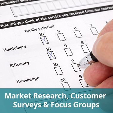Market Research, Customer Surveys and Focus Groups